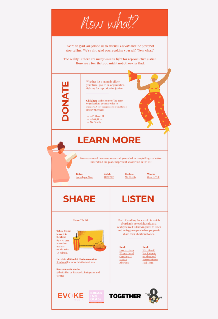 Infographic: four ways to fight for reproductive rights